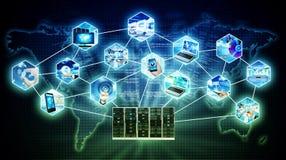Internetowy serwer technologii pojęcie zdjęcie royalty free