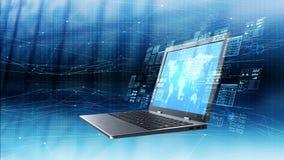Internetowy technologie informacyjne pojęcie royalty ilustracja
