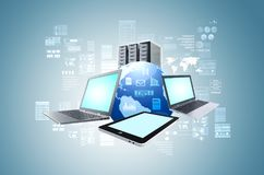 Internetowy technologie informacyjne pojęcie ilustracja wektor