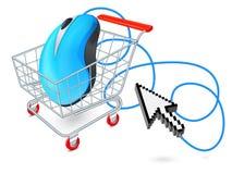 Internetowy wózek na zakupy pojęcie Obrazy Royalty Free