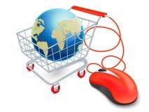 Internetowy wózek na zakupy pojęcie Zdjęcia Stock