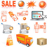 Internetowy zakupy Obrazy Stock