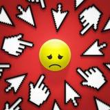 Internetowy znęcać się Zdjęcie Stock