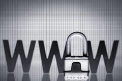 internetpadlocksäkerhet www Royaltyfria Bilder