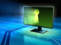 Internetsäkerhet och avskildhet Arkivfoto