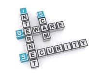 Internetsäkerhetssvindel royaltyfri illustrationer
