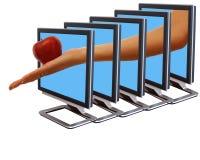 internetsammanlänkning Arkivfoto