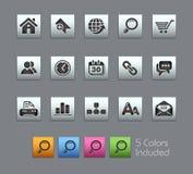 internetsatinboxserier site rengöringsduk Arkivbild