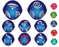 internetset för symboler 3d Arkivfoton