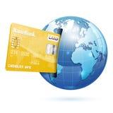 Internetshopping och elektroniskt betalningbegrepp Fotografering för Bildbyråer