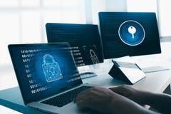 INTERNETSICHERHEIT Geschäfts-Technologie sicheres Brandmauer-Antivirus-Ale lizenzfreie stockfotografie