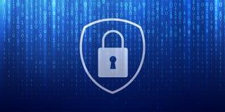 Internetsicherheit und on-line-Datenschutz der privatsphäre lizenzfreie abbildung