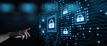 Internetsicherheits-Daten-Schutz-Geschäfts-Technologie-Privatlebenkonzept stockbild