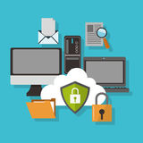 Internetsicherheitsdesign Stockbild