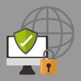Internetsicherheitsdesign Lizenzfreie Stockfotografie