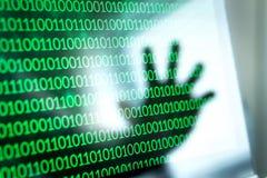 Internetsicherheitsdrohung und Angriffskonzept