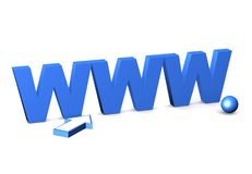 Internetsymbol www. Royaltyfria Bilder