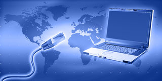 internetteknologi Royaltyfri Fotografi