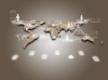 Internetteknologibegrepp av den globala affären eller det sociala nätverket Royaltyfria Bilder
