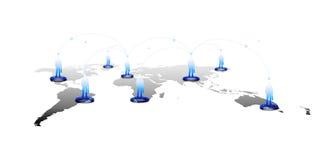Internetteknologibegrepp av den globala affären eller det sociala nätverket Royaltyfri Bild