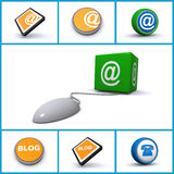 Internetteknologisymboler vektor illustrationer