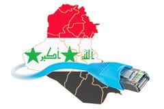 Internetuppkoppling i det Irak begreppet framförande 3d Royaltyfri Bild