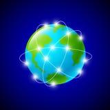Internetuppkopplingar och nätverk runtom i världen Royaltyfria Foton