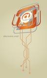 Internetuppkopplingsymboler för elektronisk post Royaltyfri Foto