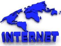 internetvärld Arkivfoto