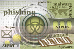 Internetvirus Royaltyfri Bild
