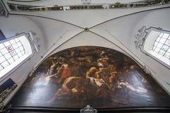 Interni del chrurch di anne del sainte, Bruges, Belgio Immagini Stock