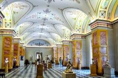 Interni del Museo dell'Ermitage dello stato, St Petersburg, Russia fotografia stock