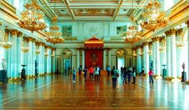 Interni del palazzo di inverno Fotografia Stock Libera da Diritti