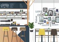 Interni della caffetteria Immagine Stock Libera da Diritti