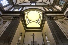Interni della cappella di Medici, Firenze, Italia Fotografia Stock Libera da Diritti