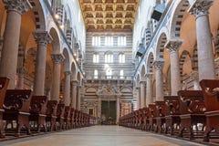 Interni della cattedrale alla torre pendente di Pisa Immagini Stock Libere da Diritti