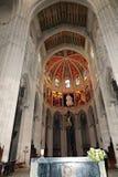 Interni della cattedrale di Santa Maria la Real de la Almudena, Madrid, Spagna Immagine Stock