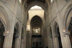 Interni della cattedrale di Santa Maria la Real de la Almudena, Madrid, Spagna Fotografia Stock