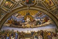 Interni delle stanze di Raphael, museo del Vaticano, Vaticano fotografia stock libera da diritti