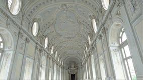 Interni di bello palazzo di Venaria Reale vicino a Torino fotografia stock libera da diritti
