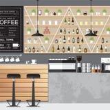 Interni domestici del caffè Fotografia Stock Libera da Diritti