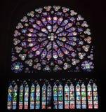 Interni e dettagli della basilica di St Denis, Francia Immagine Stock Libera da Diritti