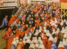 Interni e dettagli della cattedrale di Siena, Siena, Italia Immagini Stock Libere da Diritti
