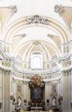 Interni luminosi di una chiesa barrocco, Palermo Fotografia Stock Libera da Diritti