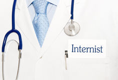Internist with stethoscope Royalty Free Stock Photography