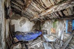 Interno abbandonato della casa Fotografia Stock