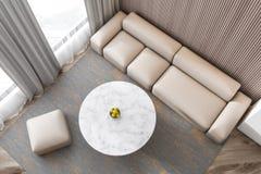 Interno adorabile moderno del sofà del salone illustrazione vettoriale