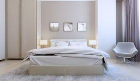 Interno alta tecnologia della camera da letto Fotografie Stock