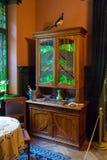 Interno in appartamento dell'architetto Konstantins Pekshens a Riga, Lettonia Immagini Stock