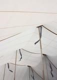 Interno bianco del soffitto della tenda con oro Pali e le ombre della bandiera fotografia stock libera da diritti